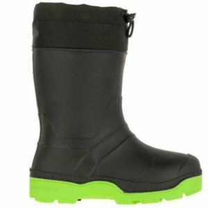 Boy's winter rain snow boots black green 11 12 13